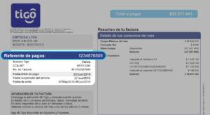 Rechnung des Mobilfunkanbieters Tigo