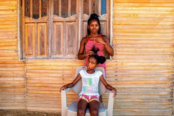 Jugendliche im Viertel Nelson Mandela