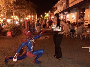 Strassenkünstler in Cartagena